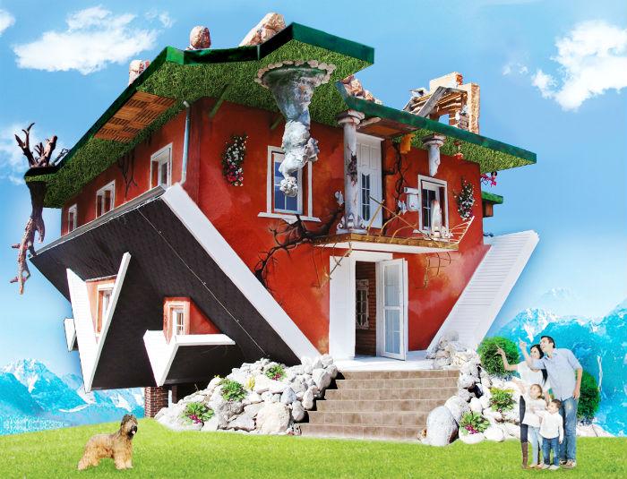 haus steht kopf ferienhaus tirol. Black Bedroom Furniture Sets. Home Design Ideas
